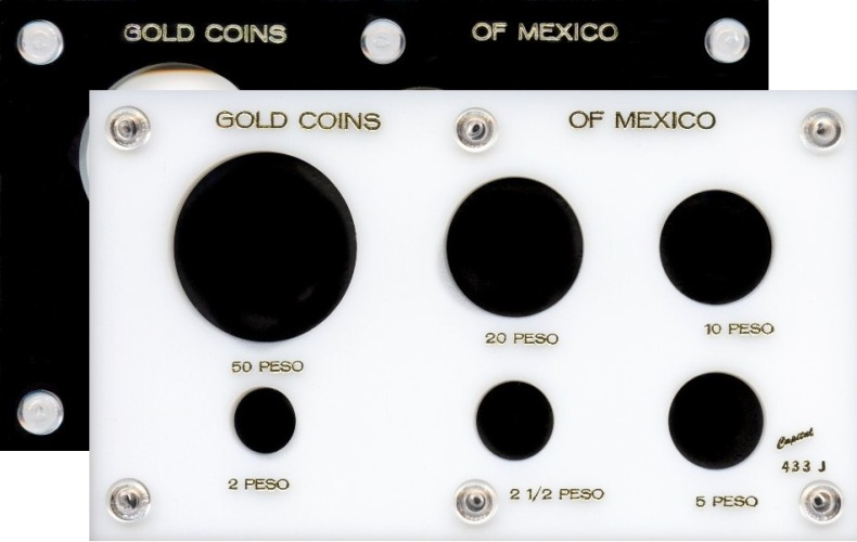 "Capital Plastic #144 Coin Holder /""Trade $/"" Black"