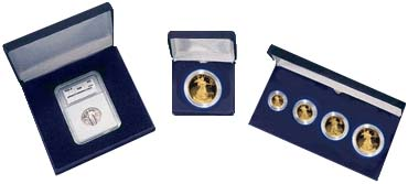 .gif of a clamshell single coin certified coin gift box