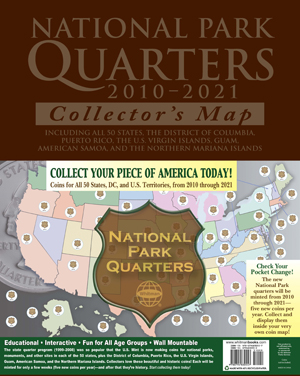 Whitmans National Park Quarter Collectors Map - Us quarter collector map