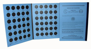 Whitman Coin Folder 8196 Lincoln Memorial Cents #2 1999-2008